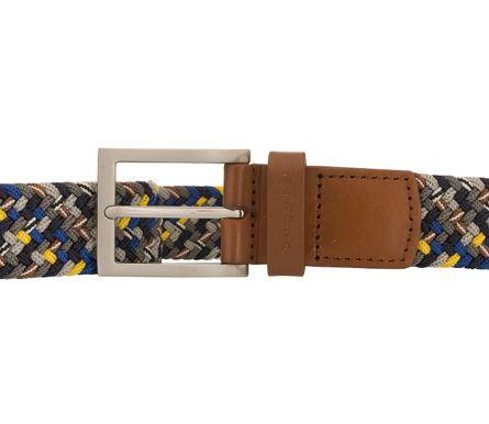 bugatti Gürtel Herrengürtel Textilbandgürtel Stretchgürtel Grau/Multi 8514 – Bild 3