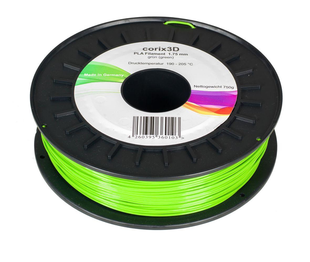 Corix3D PLA Filament 750g, grün, 1.75mm