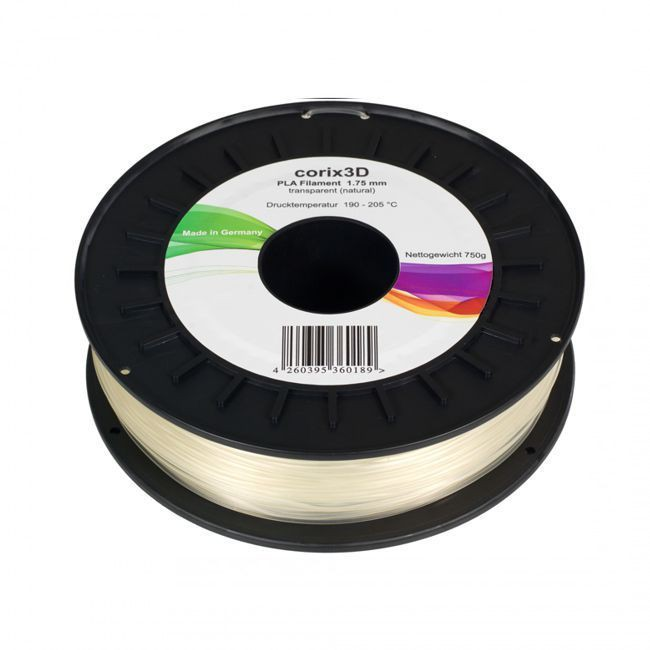 Corix3D PLA Filament 750g, transparent, 1.75mm