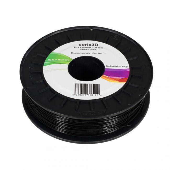 Corix3D PLA Filament 750g, schwarz, 1.75mm