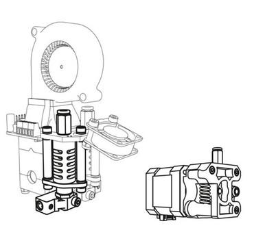 Velleman Dual Extruder Upgrade Kit für Vertex K8400 1
