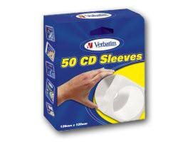 CD/DVD Papierhüllen Verbatim 49992 (50 Stück)
