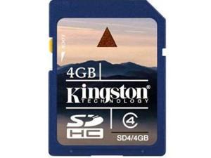 4GB SD HC Memory Card Kingston SD4/4GB