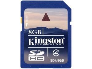 8GB SD HC Memory Card Kingston SD4/8GB
