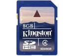 8GB SD HC Memory Card Kingston SD4/8GB 001