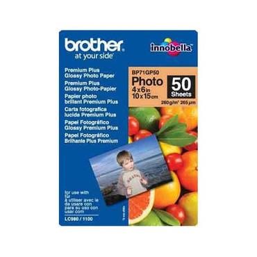 Brother BP71GP50 Premium Plus Glossy Photo-Papier