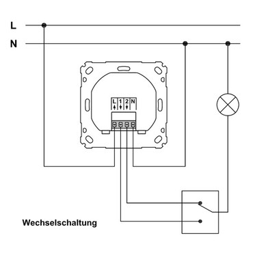 HomeMatic Funk-Schaltaktor 1fach für Markenschalter HM-LC-Sw1PBU-FM / eQ-103029 2