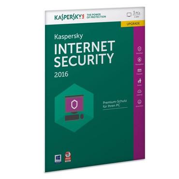 Kaspersky Internet Security 2016 Update für 3 PCs / CD-Version