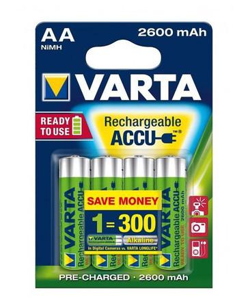 AA NiMH 2600mAh Accu 4er Pack Varta Mignon