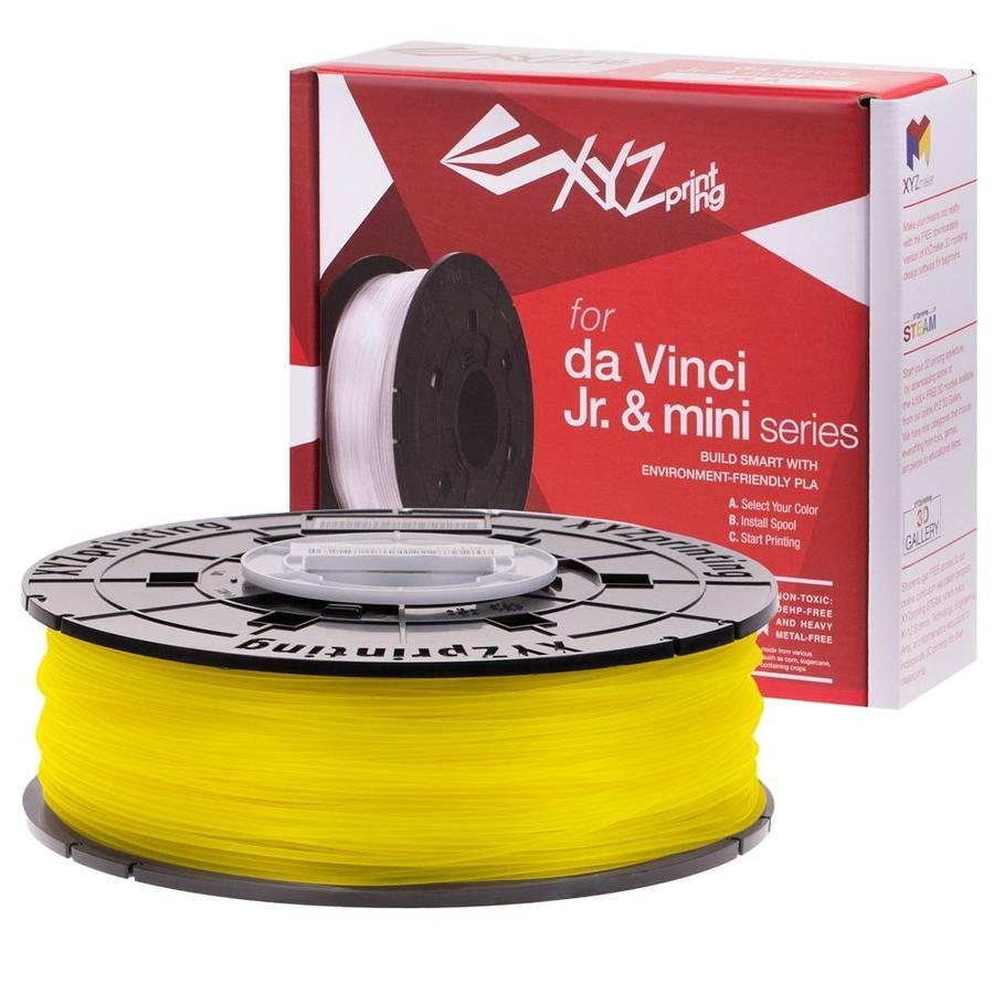 yellow XYZprinting Jr. PLA Filament