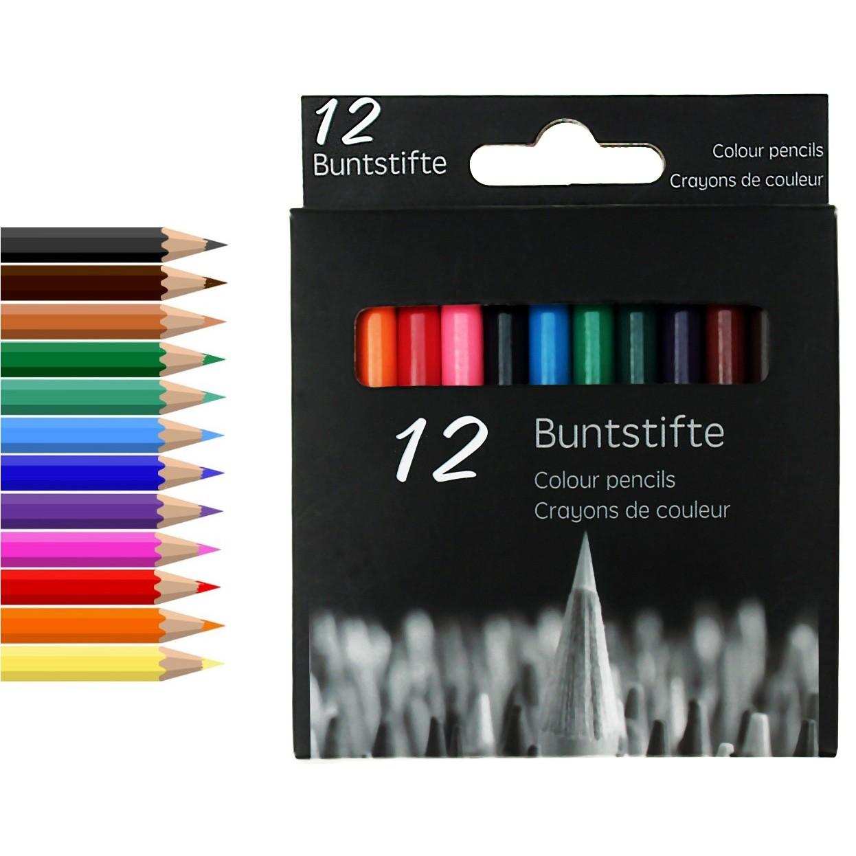 """Buntstifte """"12er Set"""" 9 cm"""