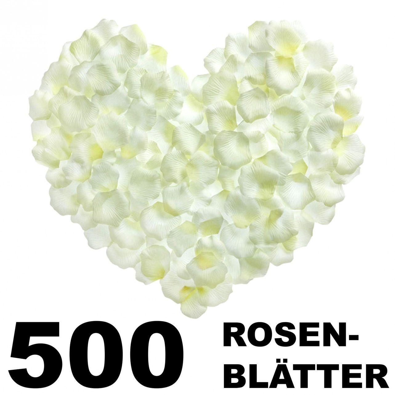 """Rosenblätter """"weiß"""" 500 Stück"""