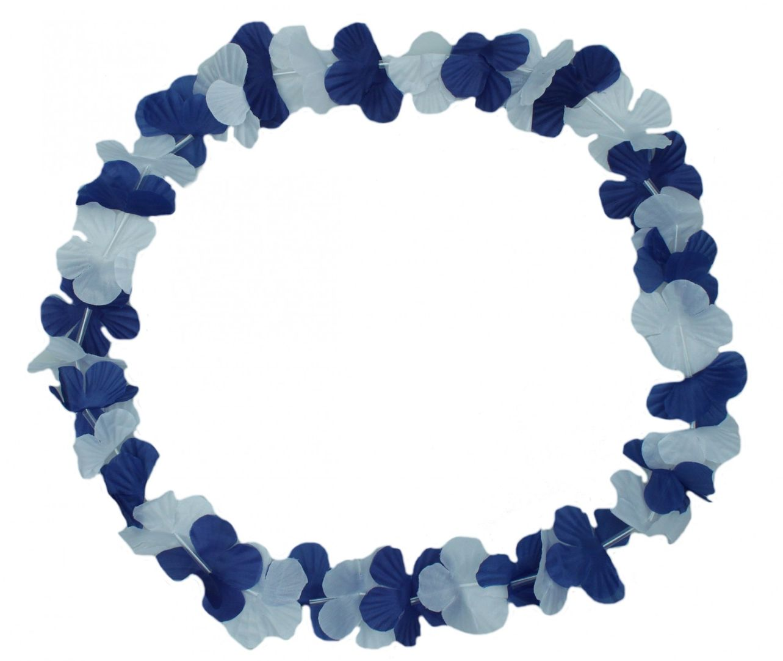 "Blumenkette ""Blau/Weiß/Blau"""