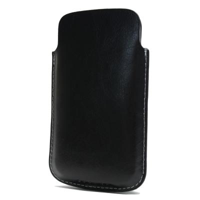 Kunstleder Vertikal/ Köcher Tasche - für Apple iPhone 4, iPhone 4S, Nokia Lumia 620, etc.- Schwarz