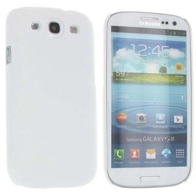 Hard Case / Back Cover f. Samsung Galaxy S3 Neo, S3 LTE, S3 - mit rauer Oberfläche - Weiß
