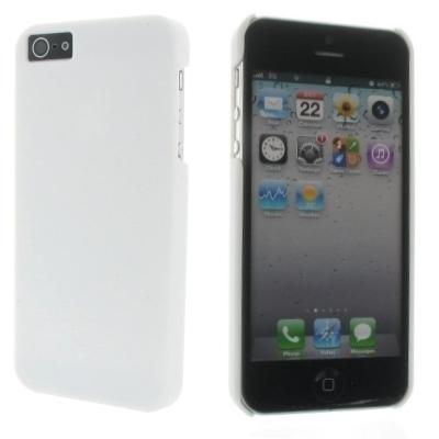 Hard Case / Back Cover für Apple iPhone SE, iPhone 5S, iPhone 5 - mit gummierter Oberfläche - Weiß