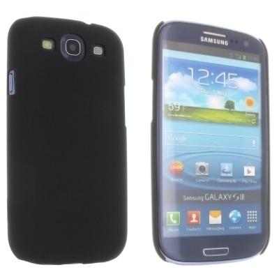 Hard Case / Back Cover für Samsung Galaxy S3 Neo, S3 LTE, S3 - mit gummierter Oberfläche - Schwarz