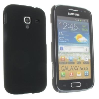 Hard Case / Back Cover für Samsung Galaxy Ace 2 i8160 - mit gummierter Oberfläche - Schwarz