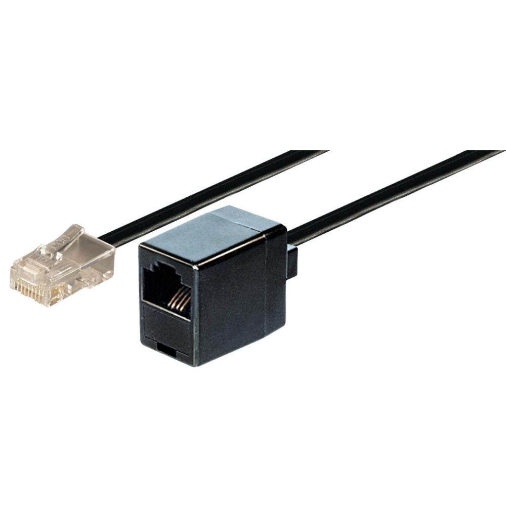 ISDN Modularverlängerungskabel, Länge 10 m, 1xRJ45 Stecker auf 1xRJ45 Kupplung, 4-polig belegt, 1:1