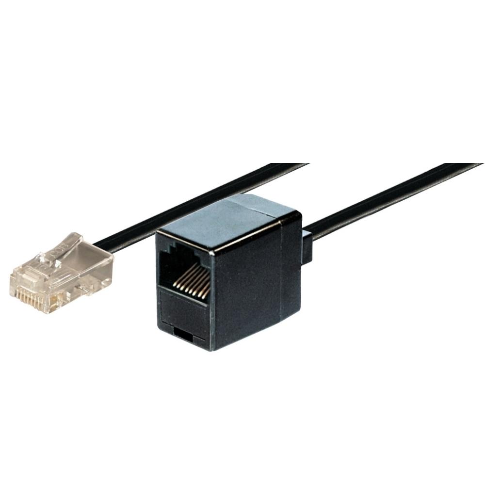 ISDN Modularverlängerungskabel, Länge  3 m, 1xRJ45 Stecker auf 1xRJ45 Kupplung, 8-polig belegt, 1:1