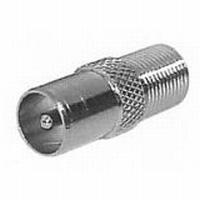 Adapter F-Kupplung > Koaxial-Stecker 9,5 mm- Verbinder, IEC-Stecker 9,5 mm auf F-Kupplung