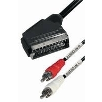 Audio-Videokabel - Scart-Stecker > 2 Cinch-Stecker, Stereo - Länge: 2 m