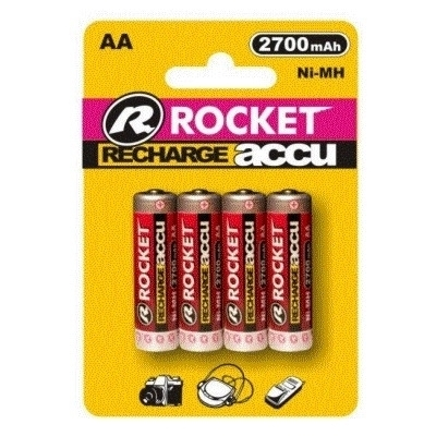 Rocket Digital Akku AA (R6) Mignon 2700mAh Ni-MH - wiederaufladbare Batterie - 4er Blister