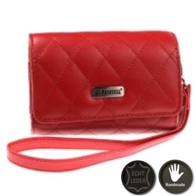Krusell Kameratasche Avenyn 48174 - Echt Leder - mit Handschlaufe - Innenmaß: 95 x 60 x 26 mm - Rot
