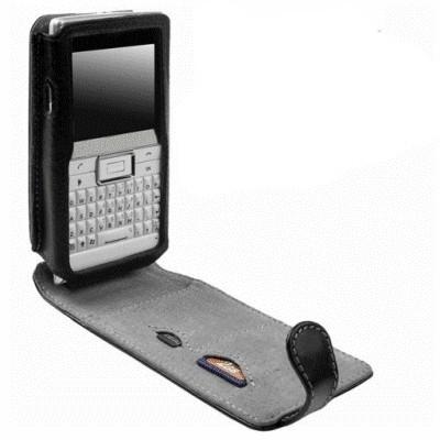 Krusell Orbit Flex Multidapt® Echt Ledertasche 75478 für Sony Ericsson Aspen - schwarz/ grau