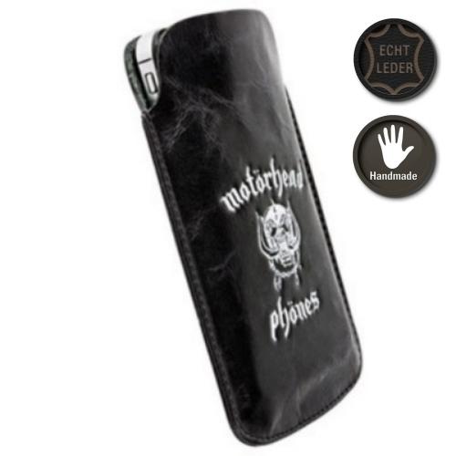Krusell Tasche Pouch Motörhead Burner 95374 - Echt Leder - Größe XXL - Schwarz/ Weiß
