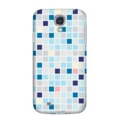 Krusell Cover 89865 für Samsung Galaxy S4, S4 LTE, i9500, i9505, i9506 - Blue Square