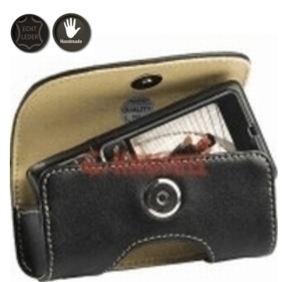 Krusell Echt Leder Tasche Horizon Multidapt® 95133 - XS - Innenmaß: 98 x 44 x 20 mm - schwarz