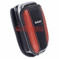 Krusell Leder Handyholster Voguish Multidapt® 25132 - S - schwarz/ rot