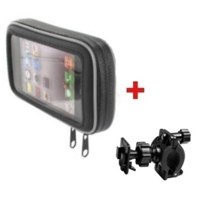 Biker Taschen Set - inkl. Halterung - für Smartphones bis ca. 125,7 x 66,5mm (Large)