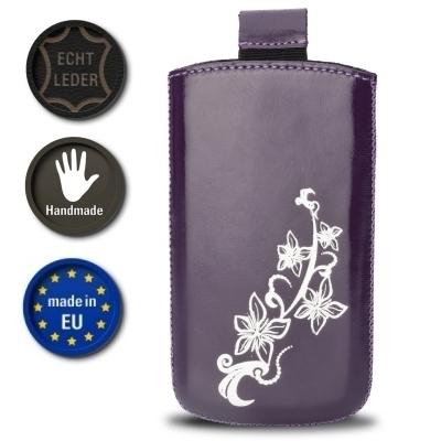 Valenta Pocket Lily 01 - Violet - 648020 - Echt Leder Tache - Easy-Out-Band (Handmade in EU)