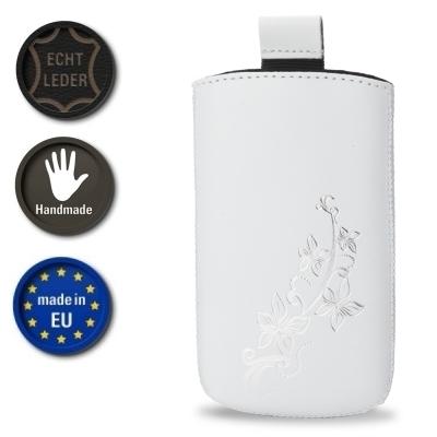 Valenta Pocket Lily 02 - White - 647917 - Echt Leder Tache - Easy-Out-Band (Handmade in EU)