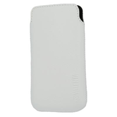 Valenta Pocket Malta 01 - White - Echt Leder Vertikaltasche - Item Code: 411453 (Made in Europe)