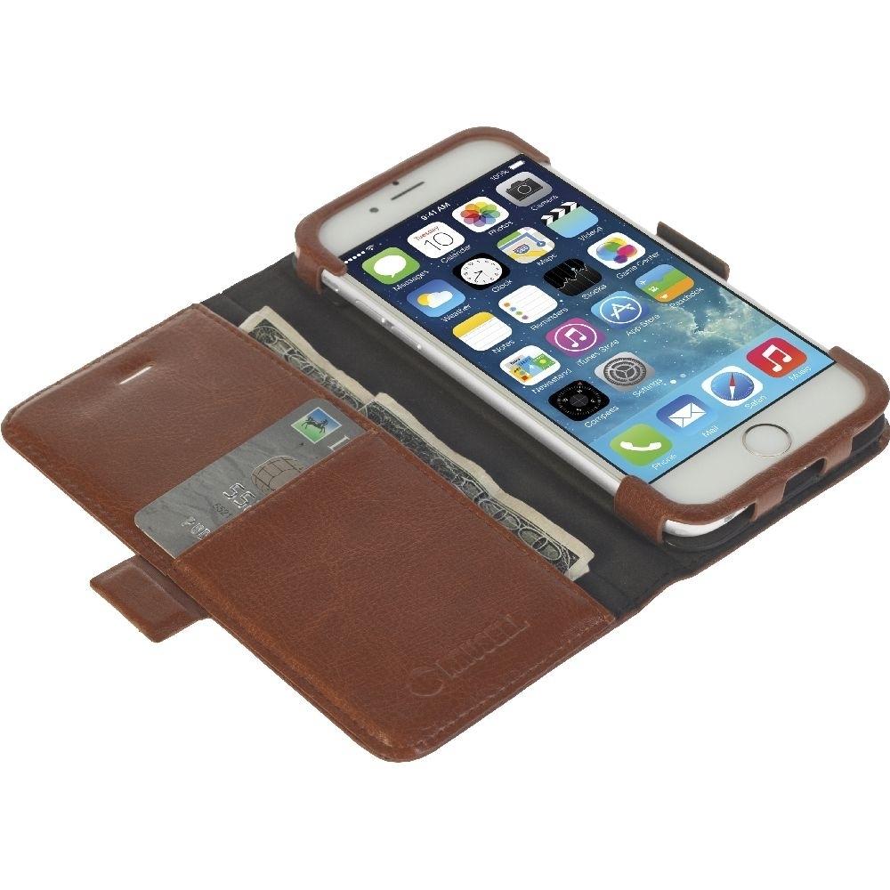 Krusell Tasche Ekerö WalletStyle  60444 für Apple iPhone 6, iPhone 6S - Coffee