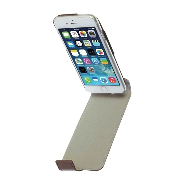 Krusell Tasche Ekerö Flexi FlipStyle 60446 für Apple iPhone 6, iPhone 6S - Coffee