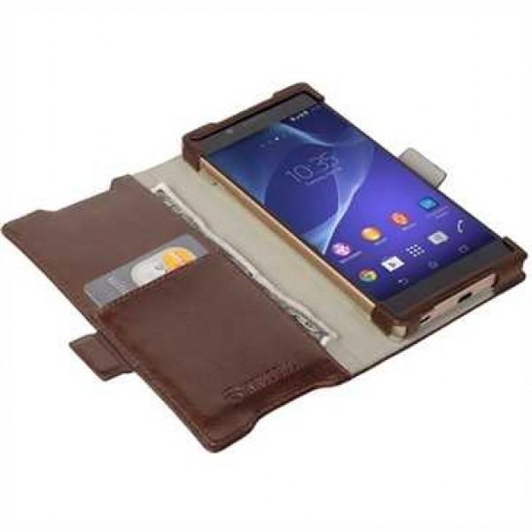 Krusell Tasche Ekerö Flexi WalletStyle  60422 für Sony Xperia Z5, Xperia Z5 Dual - Coffee