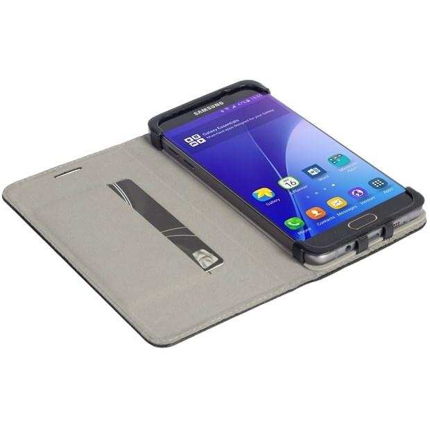 Krusell Tasche Malmö WalletStyle Case 60530 für Samsung Galaxy A5 (2016) - Schwarz