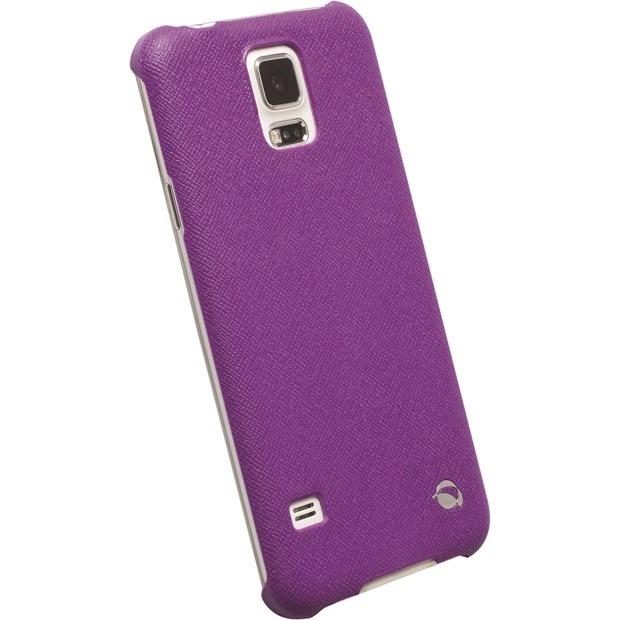Krusell Malmö TextureCover 89961 für Samsung Galaxy S5 SM-G900F - Galaxy S5 Neo SM-G903F - Purple