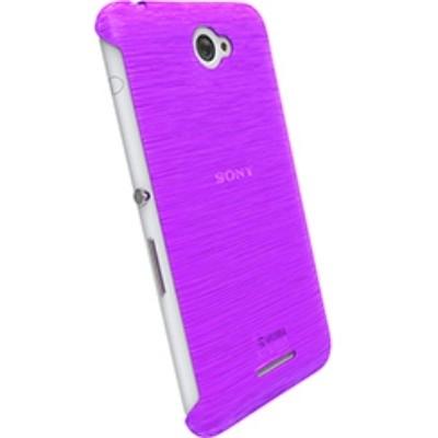 Krusell FrostCover Partner 90065 für Sony Xperia E4, Xperia E4 Dual - Purple Transparent