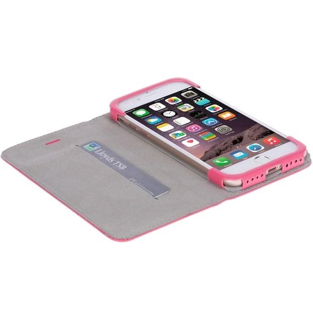 Krusell Tasche Malmö WalletStyle Case 60730 für Apple iPhone 8, iPhone 7 - pink