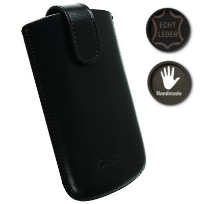 Krusell Tasche Echt Ledertasche Asperö 95542 - Innenmaß: 110 x 64 x 15 mm - L - Schwarz