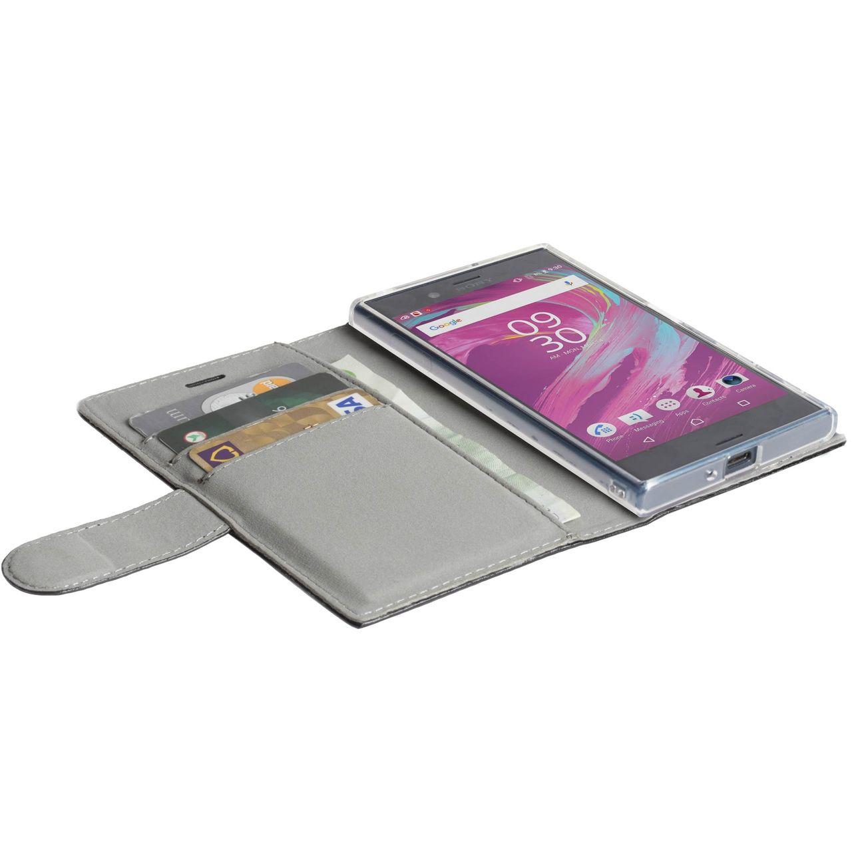 Walk on Water Tasche Icon 3 Card WalletStyle Case 60985 für Sony Xperia L1  - Farbe: Schwarz