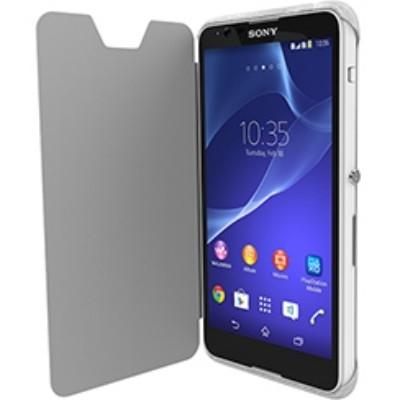 Krusell Tasche Boden FlipCover Partner 90070 für Sony Xperia E4, Xperia E4 Dual - Transparent weiß