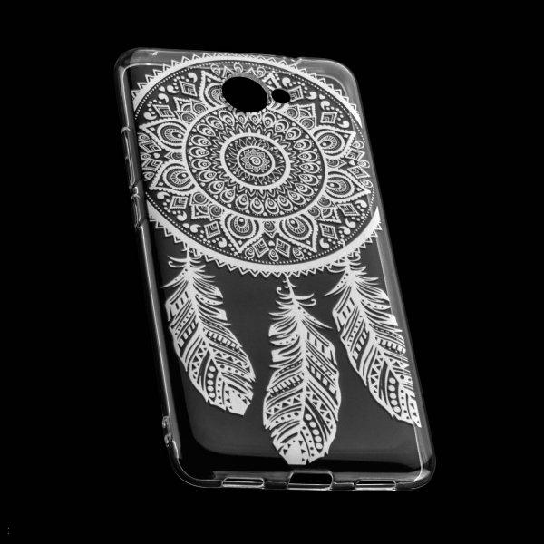 TPU Hülle Case Tasche mit Druck für Huawei Y7 - Design: Feder