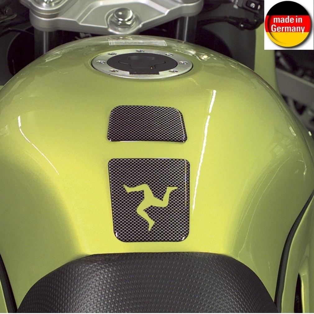 HR Prewoodec Universal Motorrad Moped Bike Tankpad - 2 Teile - 125 x 78 x 2 mm - Made in Germany