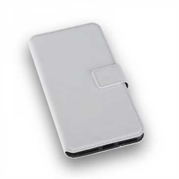 BookStyle Tasche Vertikal mit Halterung für Apple iPhone 8 Plus, iPhone 7 Plus - Weiß